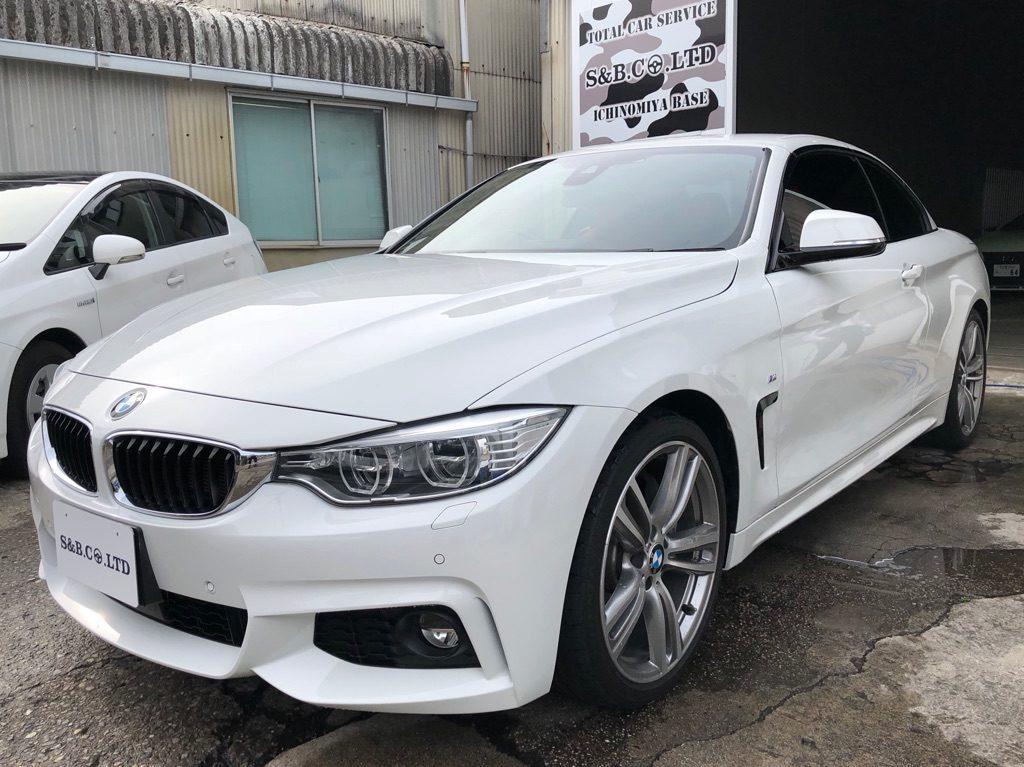 GWの営業日のお知らせ BMW435iカブリオレ入庫